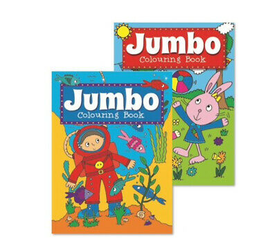£3.99 • Buy 2 X A4 JUMBO CHILDREN'S COLOURING BOOKS Book Fun Pictures Learning 150 Pages