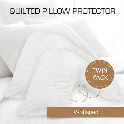 AU29.90 • Buy 2 X Aus Made Quilted V-Shape/Tri/Boomerang Pillow Protectors Case Cotton Cover