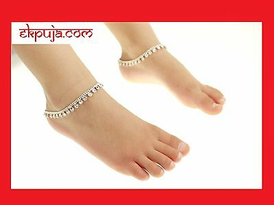 £5.98 • Buy Diamonte Stunning Ankle Chain Indian Payal Bollywood Kids Anklet Single Or Pair