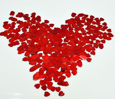 £2.25 • Buy 36gms Red Love Heart Shaped Foil Table Confetti Wedding Valentine Anniversary