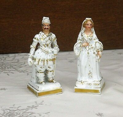 $ CDN173.22 • Buy Gorgeous 1900 Vieux Paris / Bruxelles Porcelain Figurines Soldier Lady Marquise