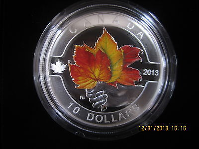 $ CDN55.99 • Buy Fine Silver Maple Leaf 1/2 Oz $10  Coin Matte Proof Canada 2013 Mintage 40000