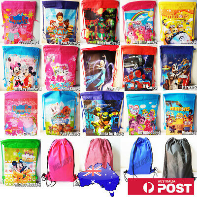 AU5.50 • Buy  Cartoon/Plain Colour Drawstring Backpack Swim School Library BAG GYM Kid/Adult
