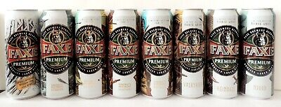 $ CDN53.44 • Buy FAXE Beer Cans 8 Pcs Exclusive Series 450-500 Ml Limited Edition Bottom Open!