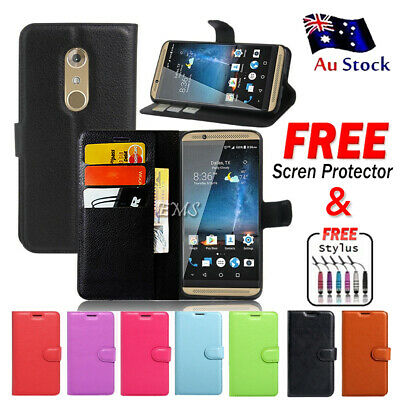 AU6.99 • Buy For ZTE Axon 7 Wallet Leather Card Holder Flip Case Cover + Screen Protector AU