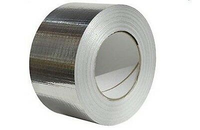 """£8.99 • Buy Reinforced Aluminium Foil Tape - 48mm (2"""") Wide X 45mtr - Duct Tape - Insulation"""
