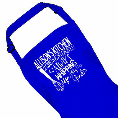 Personalised Blue Ladies Kitchen Cooking Apron By Inspired Creative Design • 13.99£