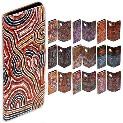 AU14.98 • Buy For OPPO Series - Aboriginal Art Theme Print Wallet Mobile Phone Case Cover #1