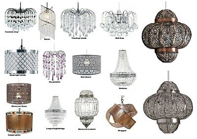 £14.95 • Buy Modern Chandelier Ceiling Light Shades Acrylic Crystal Droplet Pendant Lampshade