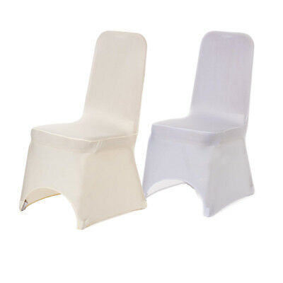 £3.49 • Buy 100pcs Dining Chair Covers Spandex Polyester Slip Cover Stretch Wedding Party