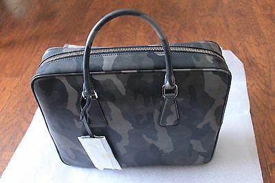 3d5ae1e65710 NTW Authentic Prada Saffiano Camouflage Leather Briefcase MSRP $2600 For  $1400 • 1,400.00$