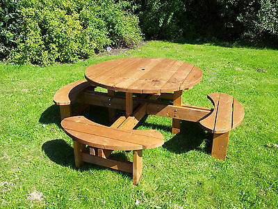 £429 • Buy Supersized Excalibur Round Picnic Table Heavy Duty Commercial Grade 1300mm Top