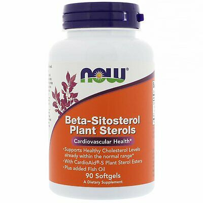 Now Foods, Beta-Sitosterol Plant Sterols, 90 Softgels • 24.99£
