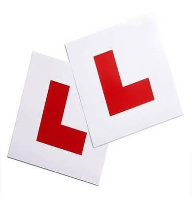 2 Piece Magnetic L Plate Car Learner Sign Stickers Vehicle Sticker B2 • 2.99£