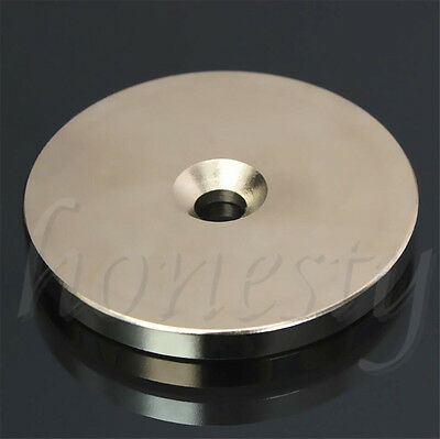 AU6.09 • Buy N52 50mm X 5mm Rare Earth Super Strong Magnets Round Discs 6mm Hole Neodymium