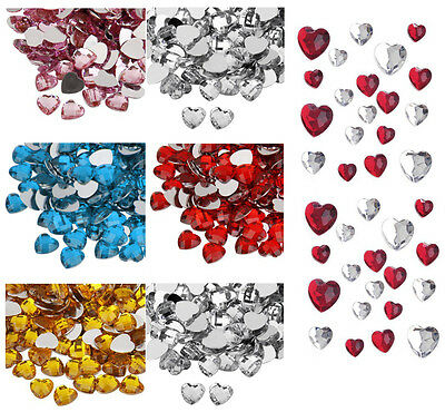 Heart Craft Gem Stickers Self Adhesive Card Crystals Beads Phone Case Gemstones  • 1.99£