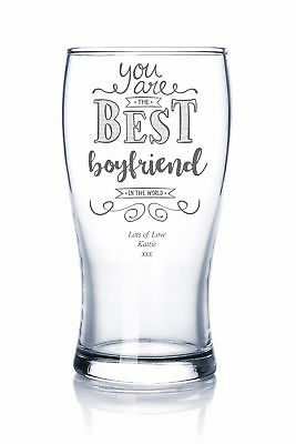 Gift For Boyfriend Personalised Engraved Beer Glass BBFINTW-BG • 11.29£