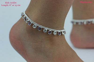£5.90 • Buy Diamonte Kids Ankle Chain Anklet Kids Payal Indian Bollywood Single Or Pair