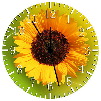 £13.06 • Buy Sun Flower Wall Clock 10  Will Be Nice Gift And Room Wall Decor W145