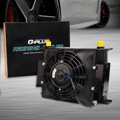 $84.79 • Buy 30 Row  Universal Engine Transmission 10An Oil Cooler + 7  Electric Fan Kit