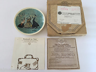 $ CDN3.47 • Buy NEWELL Norman Rockwell On Tour 1982 WHEN IN ROME 3rd Issue Collector Plate