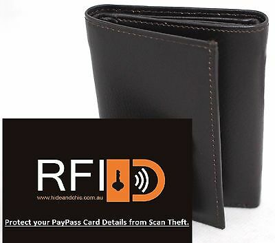 AU19.99 • Buy RFID Security Lined Full Grain Leather Trifold Wallet. Bargain Price.12005.