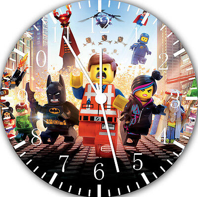Lego Movies Wall Clock 10  Will Be Nice Gift And Room Wall Decor E213 • 13.22£