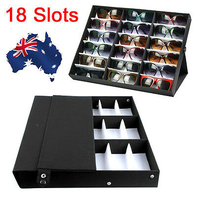 AU33.85 • Buy 18 Slots Sunglasses Display Counter Stand Storage Rack Cabinet Organizer Tray