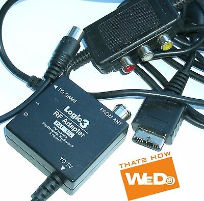 Logic3 Rf Adapter For Ps2 Ps1 Ps One Ps2 Gwc Pal-i/g • 7.95£