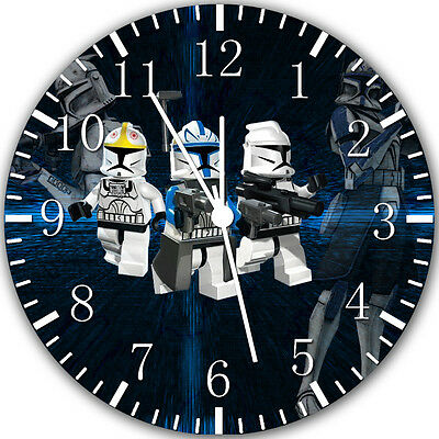 Lego Starwars Wall Clock 10  Will Be Nice Gift And Room Wall Decor Y53 • 13.22£