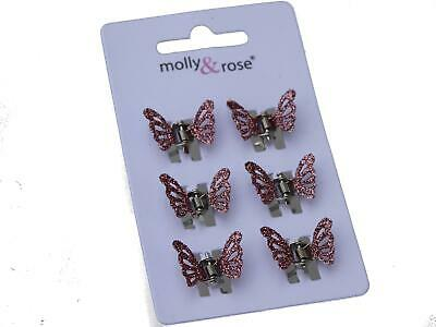 £2.35 • Buy Pink Glitter Butterfly Hair Claws Clips Clamps Hair Accessories