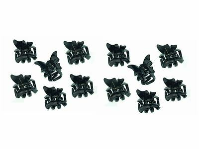 £3.29 • Buy 12 Black Mini Butterfly Hair Claw Clips Clamps Hair Accessories