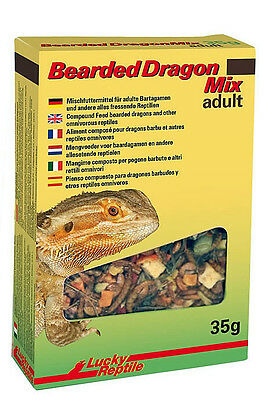 £7 • Buy Lucky Reptile Bearded Dragon Mix Adult 35g Beardie Food