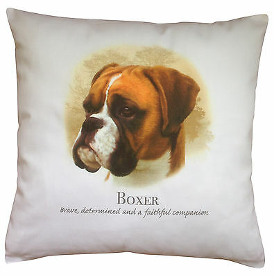 Boxer Dog   100% Cotton Cushion Cover With Zip   Howard Robinson   Perfect Gift • 14.99£