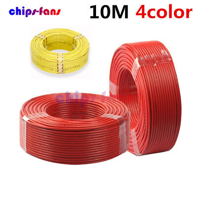 AU10.68 • Buy 10M 300V Flexible Stranded Of UL-1007 24 AWG Wire Cable Yellow/Blue/Red/Black