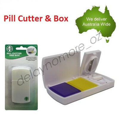 AU5.99 • Buy Pill Cutter Box Tablet Splitter Divider Convenient Portable Medicine Organizer