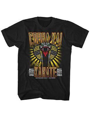 $20.70 • Buy Karate Kid Cobra Kai Karate All Valley Champs Adult T Shirt Great Classic Movie