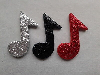 £4.50 • Buy 12 Glittery Red Mix Music Notes- Edible Sugar Cake Decorations / Toppers