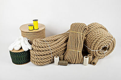 100% Pure Natural Hessian Jute Rope Cord Braided Twisted Price Per Meter • 5.06£