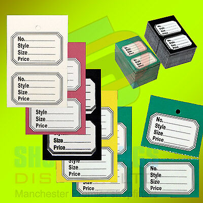 £1.99 • Buy 100x Clothes Garment Tickets Perforated Clothing Price Stock Tag Tagging Labels