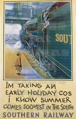 £19.75 • Buy Vintage Poster SOUTHERN RAILWAYS I'm Taking An Early  A1/A2/A3 & A4 Print - 008