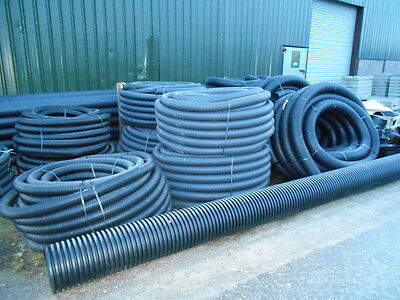 PERFORATED DRAINAGE PIPE / LAND DRAIN 160mm X 50 METRES • 138£