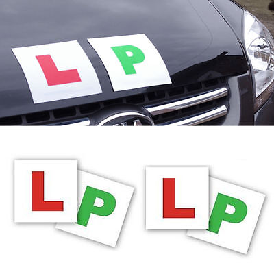 L And P Plates 2 Of Each Magnetic Learner Plates Green P Car Bike Learner Driver • 2.49£