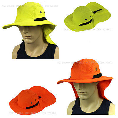 $9.85 • Buy Boonie Cap Sun Flap Bucket Hat Ear Neck Cover Sun Protection Soft Material -Neon
