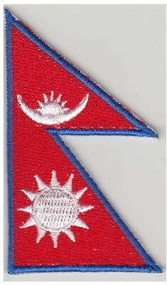Small Nepal Flag Iron On Patch 2.5 X 1.5 Inch • 2.14£