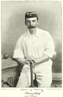 LANCS CRICKET.AG STEEL-Marlborough Cambridge Gentlemen England;all-rounder 1896 • 9.99£