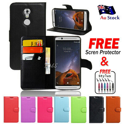 AU7.49 • Buy For ZTE Axon 7 Mini Wallet Card Leather Flip Case Cover + FREE Screen Protector