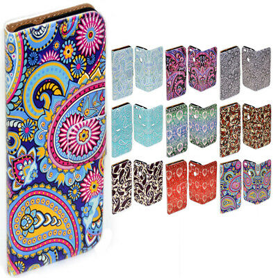 AU14.98 • Buy For Samsung Galaxy Series Paisley Pattern Print Wallet Mobile Phone Case Cover 1