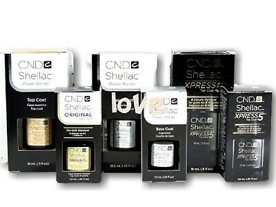 AU17.92 • Buy CND Shellac UV Gel Nail Polish Soak Off Base Coat Or Top Coat/ Choose Any Size