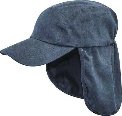 £8.25 • Buy ARMY LEGIONNAIRES HAT Mens Navy Cotton Sun Cap Travel Camping Hiking Neck Flap